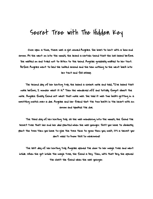 Secret tree with the hidden key