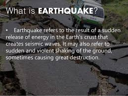 Meaning of earthquake