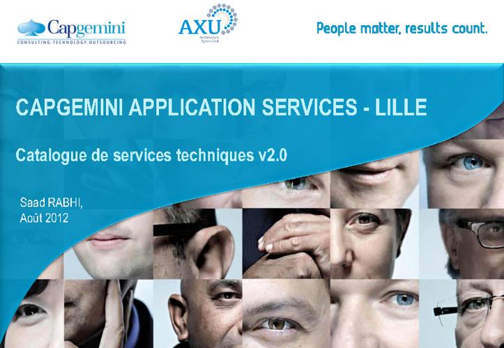 Catalogue de Services Techniques - Industrialisation v2.0