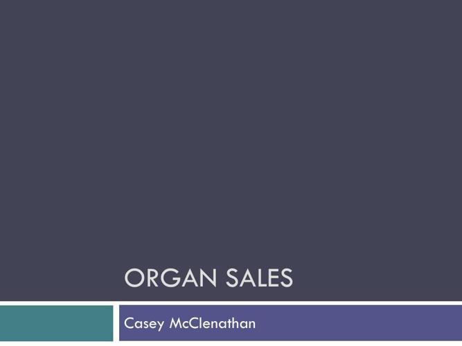 Organ Sales