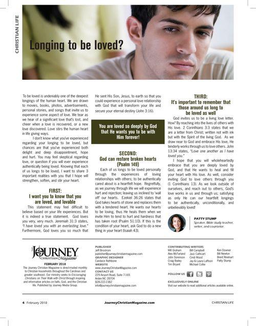 Journey Christian Magazine February 2018