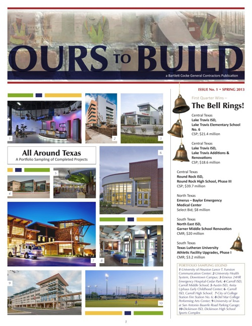 Ours to Build Newsletter: Spring 2013