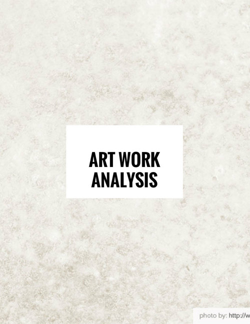art work analysis 2