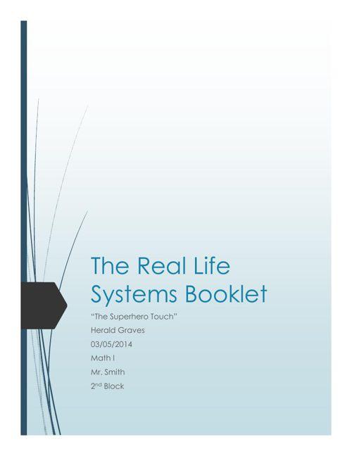 Sample SoE Booklet