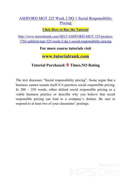 MGT 325 ASH Courses /TutorialRank
