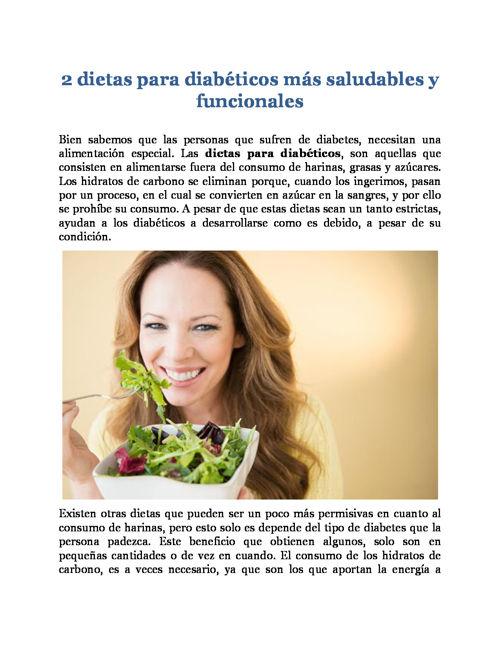 2 dietas para diabéticos más saludables y funcionales