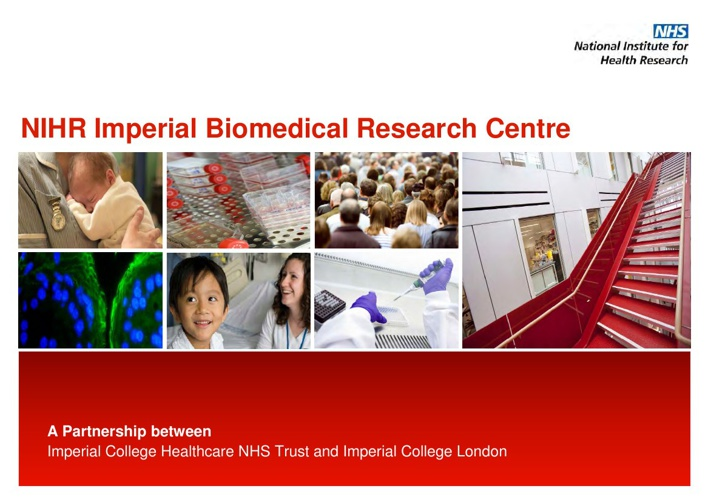 NIHR Imperial BRC Public Showcase Event 2012 brochure