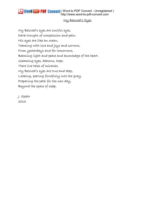 A Valentine's Gift of Poetry, by Joan Spahr