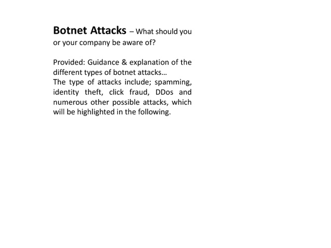 Botnet Attacks - A Guidance & How to Protect your Computer