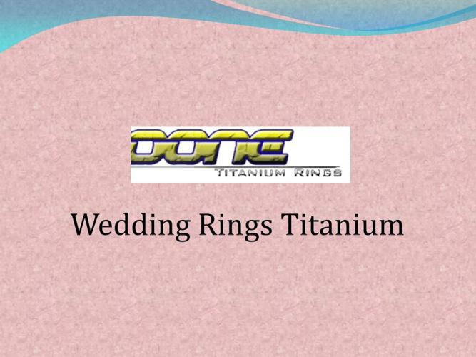 Wedding Rings Titanium