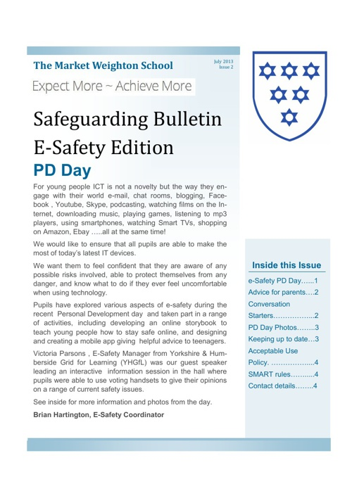 Safeguarding Bulletin 2