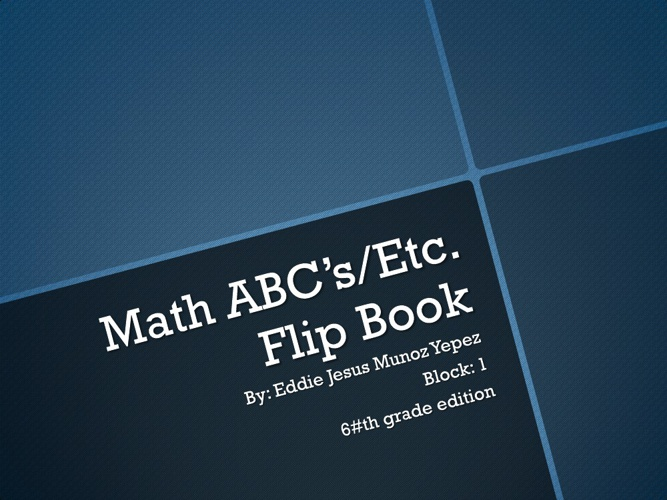 Mathematics Flipbook