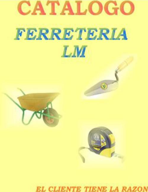 CATALOGO DE FERRETERIA LM
