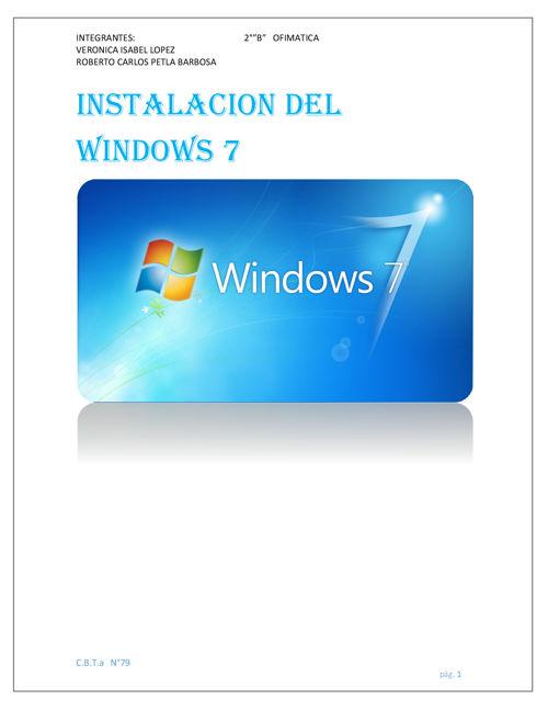INSTALACION DEL WINDOWS 7 VERO 2