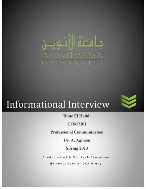 Informational Interview