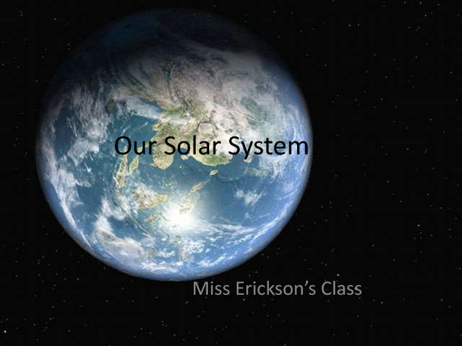 Our Solar System 2012