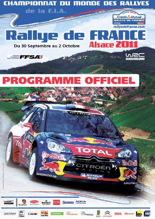 Rallye de France Alsace 2011 - Programme officiel
