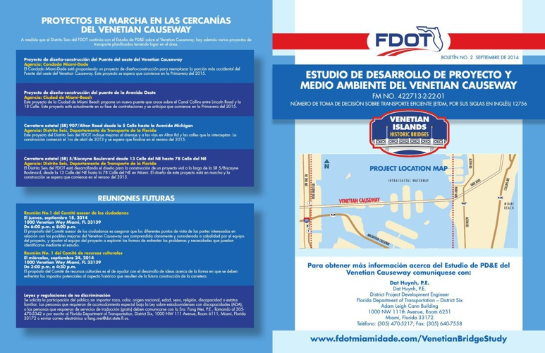 FDOT District Six Venetian Causeway PD&E Study Newsletter