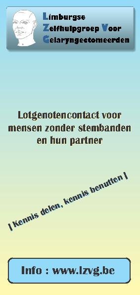 Folder Limburgse Zelfhulpgroep voor Gelaryngectomeerden