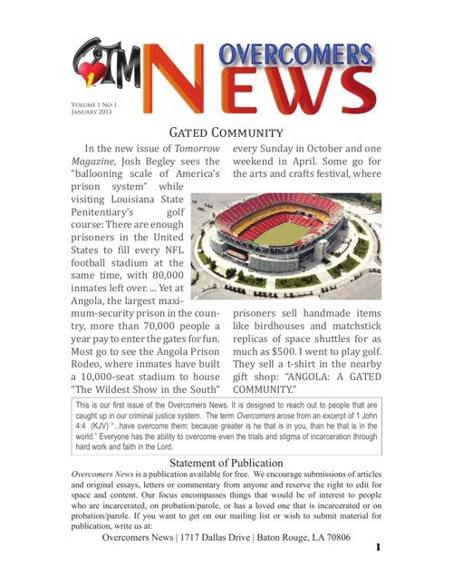 OTM Newsletter January 2013