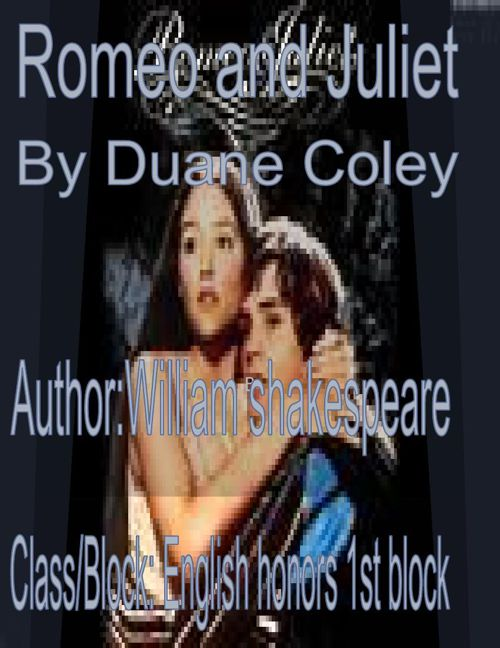 Romeo and Juliet scrapbook