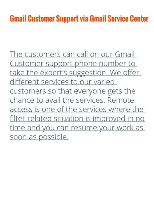 Gmail Customer Service by the help of Gmail Customer Support