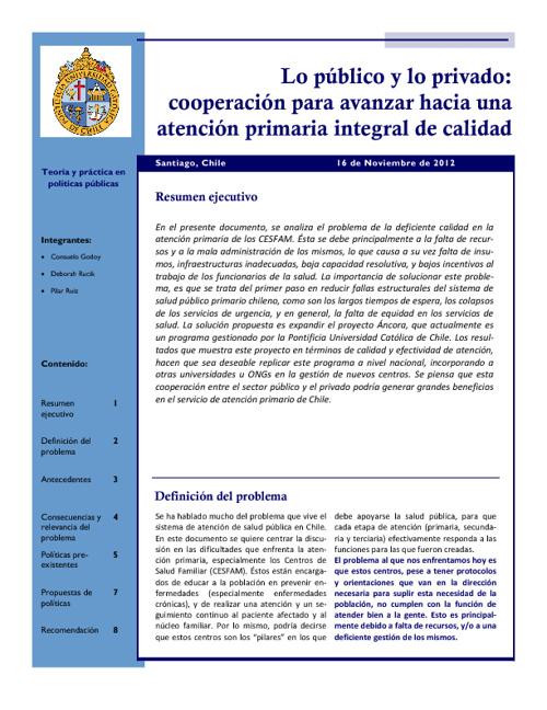 Policy Brief Áncora