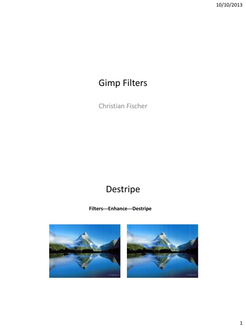 Gimp Filters By Christian Fischer