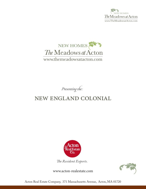 The Meadows at Acton New England Colonial