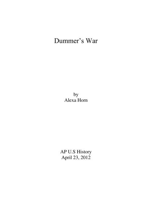 Dummer's War