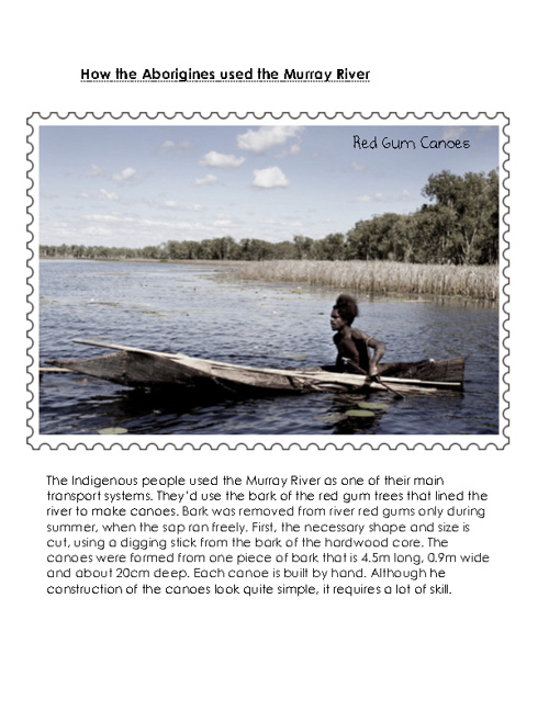 The Evolution of the Murray River,  Stamp Collection