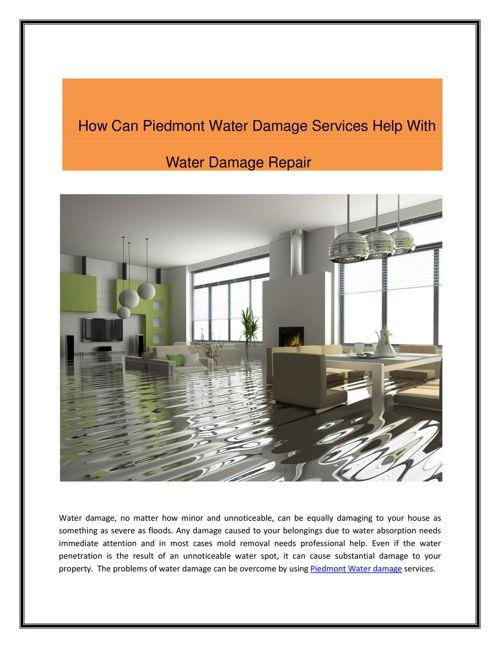 Piedmont Water Damage