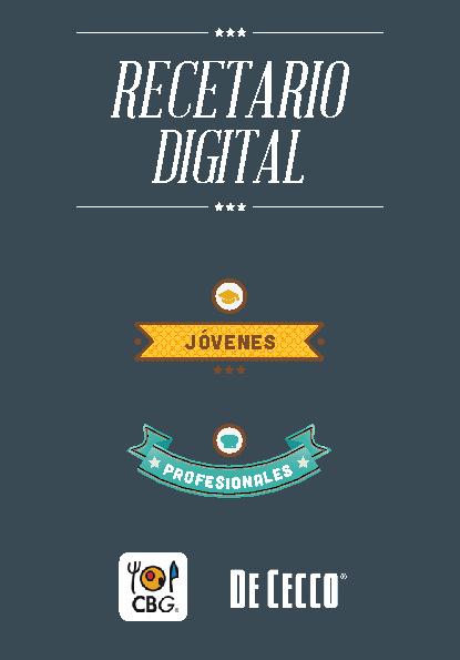 Recetario Digital CBG