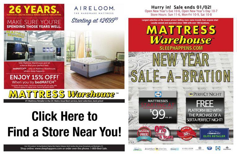 mattress warehouse new years