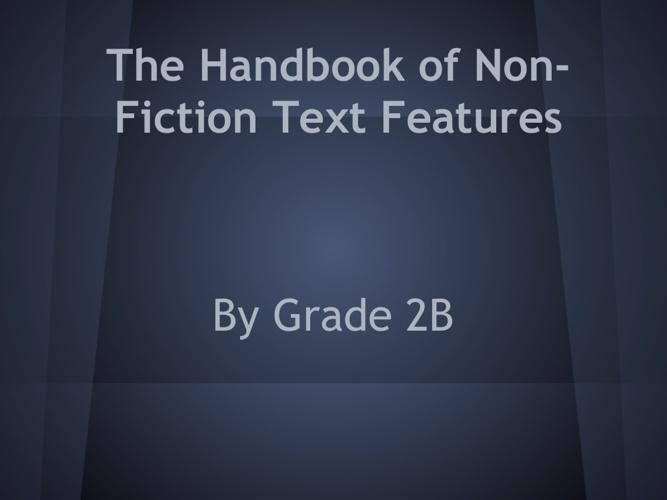 Handbook of Non-Fiction Text Features