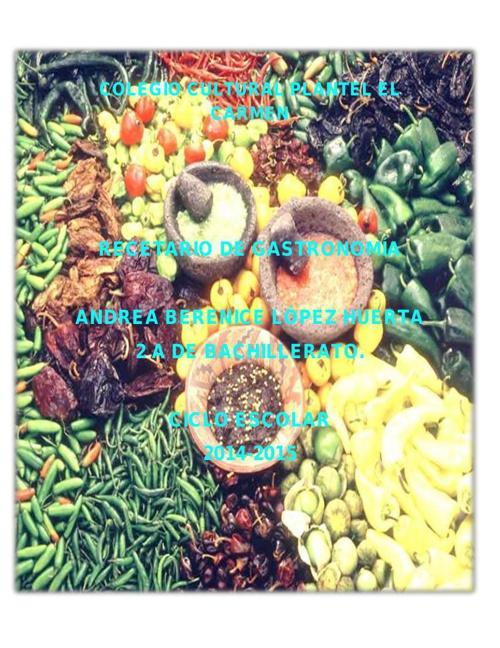 recetario gastro