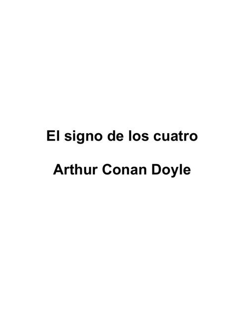 El signo de los cuatros - Conan Doyle