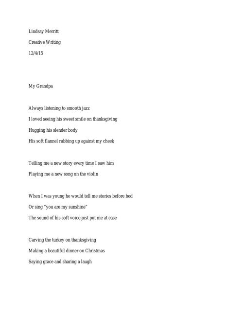 grandpa poem
