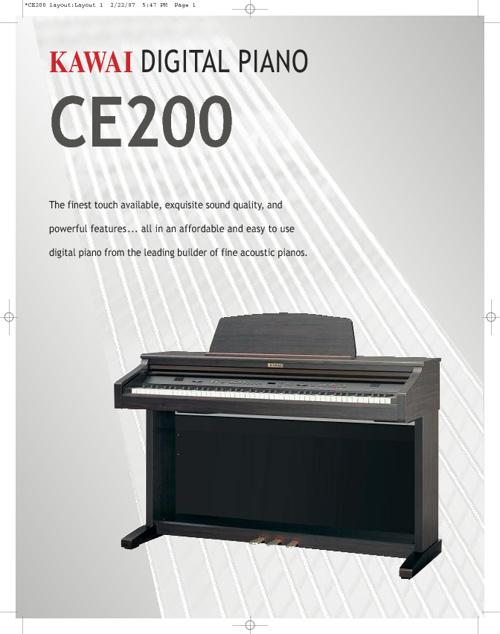 Kawai CE200 Brochure