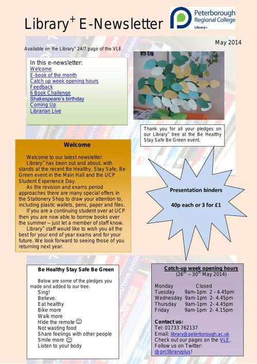 E-Newsletter May 2014