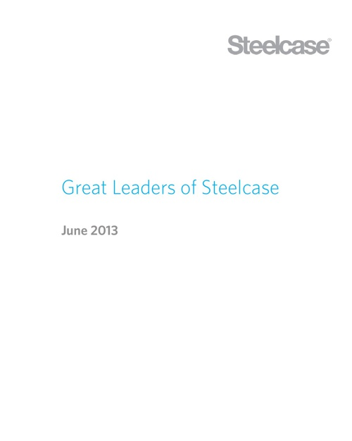 Great Leaders of Steelcase
