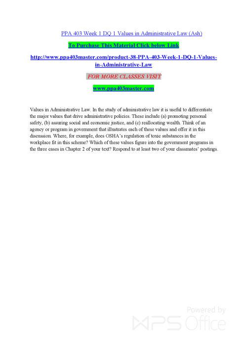 PPA 403 Entire course/ppa403master.com