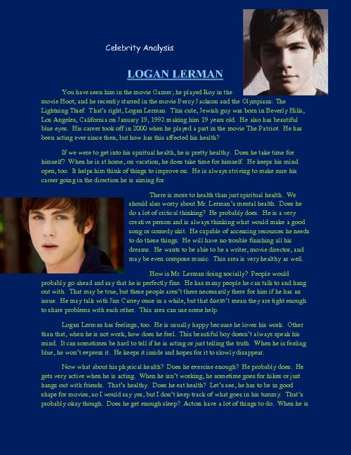 Logan Lerman: Behind His Health