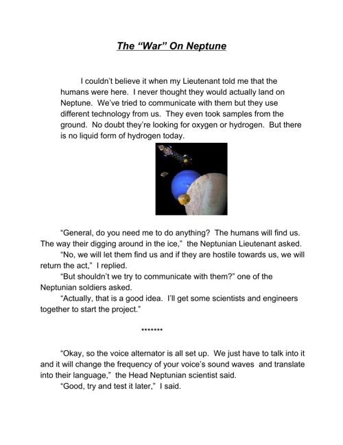 "The ""War"" On Neptune"
