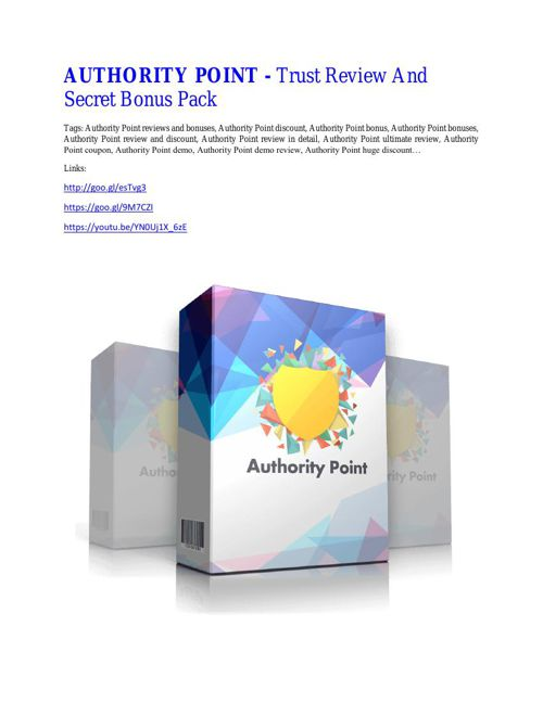 Authority Point Review -  Authority Point DEMO & BONUS