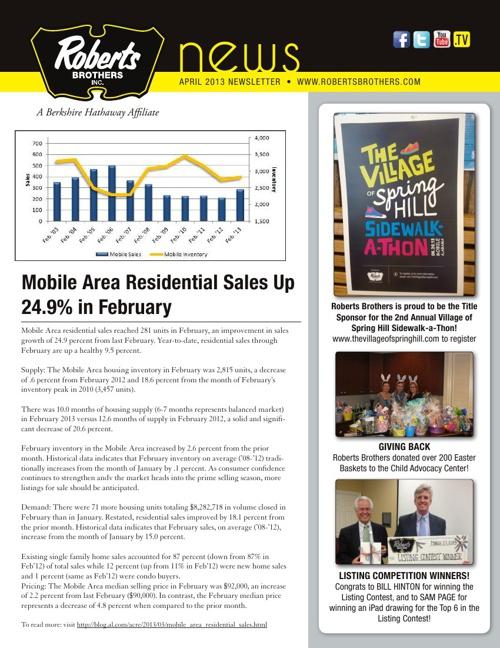 April 2013 News