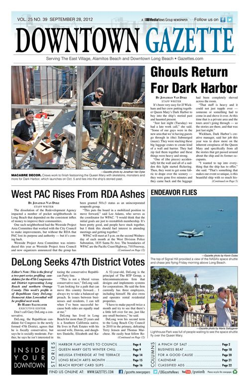 Downtown Gazette  |  September 28, 2012