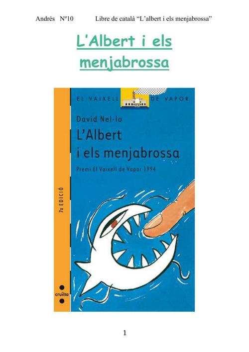 L'albert i els menjabrossa-Llibre de català