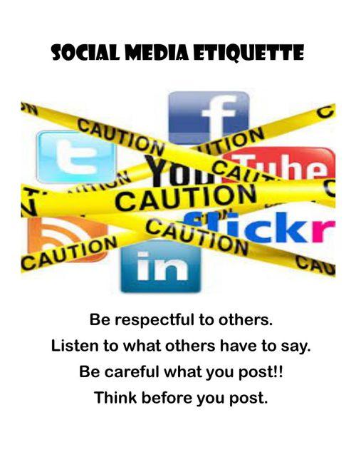 Social Media Etiquette & Digital Citizenship - 7th Period