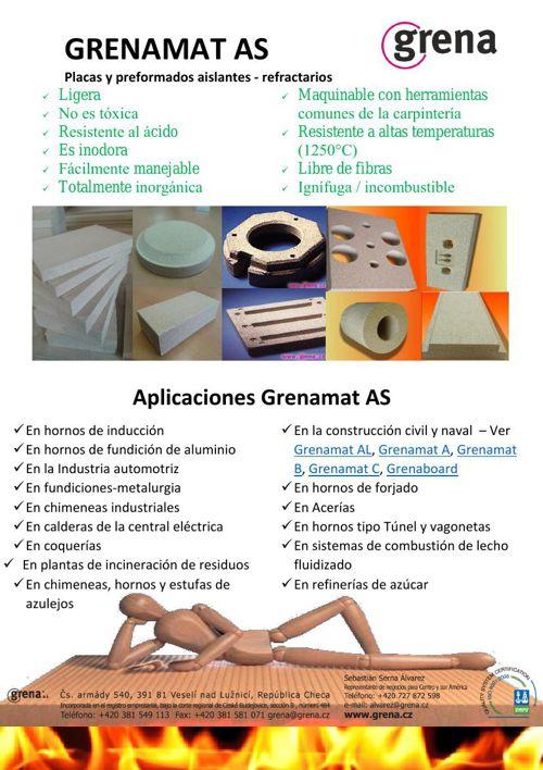 Placas y formas aislantes refractarias Grenamat